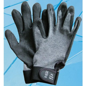 TFC Montagehandschuh Gr.7, grau-schwarz, 5-Finger