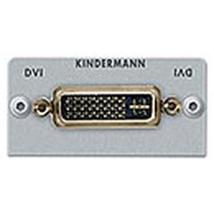 Anschlussblende mit Kabelpeitsche DVI-D auf HDMI, Halbblende, Aluminium eloxiert