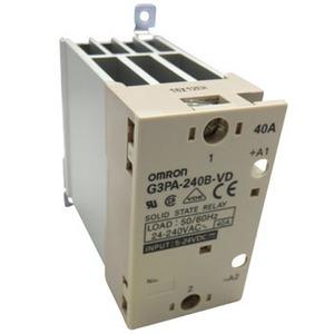 G3PA-240B-VD 5-24VDC, Halbleiterrelais, 1-phasig, integrierter Kühlkorper, Last: 40A 24…240V AC, Ansteuerung: 5...24V DC, Null-Punkt schaltend, DIN-Schienen/Wandmontage