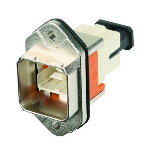 STX V14 Norm-Flanschset, Metall, Multimode, SC-RJ-Kupp., rechteckiger Mon.ausschn.