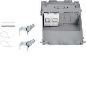 Datendose 2xCat.6 verd Einbau BRN 70x210
