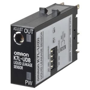 K7L-UDB, Leckage-Sensor auf Leitfähigkeitsbasis, Miniatur-Stecker, einstellbare Empfindlichkeit - 1MOhm, geeignet für lange Zuleitungen, mit Unterbrechungserke
