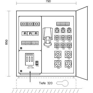 MFV 1/3,6-221, Markt- und Festplatzverteiler im Gehäu