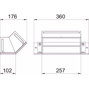BSKM-ES 1025RW, Etage steigend für abgehängte Montage 100x250, St, L, reinweiß, RAL 9010