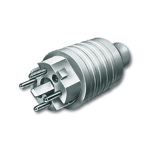 2064 SPVC, Stecker, grau RAL 7035, Alu-Druckguss/Sondergeräte, Busch-Perilex nach DIN 49445-48, 3 P + N + E, 16/25 A, 415 V
