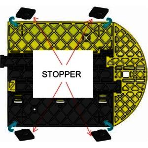 Kabelbrücken-Stopper-Set für Typ: KB3X35