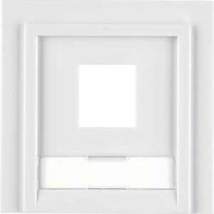 Abdeckung 1-f.  Modular Jack, b.weiß