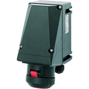 GHG 511 4406 R0001, Ex-Wandsteckdose für Zone 1/21, 16 A, 4-pol., GHG 511380-415 V, 6 h, 1 x M25 Leitungseinführung, 1 x M25 Schraubverschluss