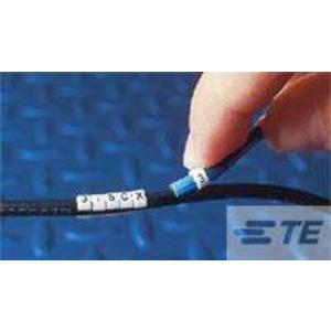 STD21W-0, Kabelmarker STD, Gr. 21, für DM 11 mm - 15,5 mm, schwarz auf weiß mit 0