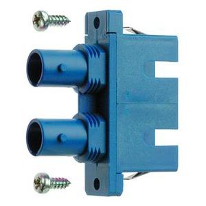 ST/SC Duplex Adapter, Multimode und Singlemode, Keramikhülse, Metallgehäuse, inkl. selbstschneidende Befestigungsschrauben