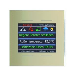 """LCN - GT4DC, Glas-Farbdisplay 2,8"""", champagner, mit 4 Tasten, integr. TS"""
