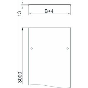 DRL 100 DD, Deckel mit Drehriegel für Kabelrinne und Kabelleiter 100x3000, St, DD