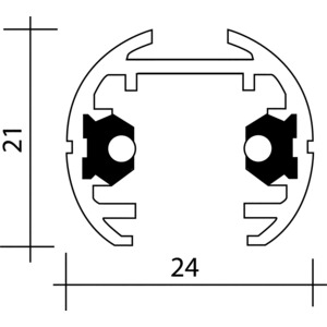 Facilita NV-Stromschiene weiß 2 m, Facilita NV-Stromschiene weiß 2 m