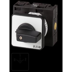 T3-3-8451/E, Umschalter, Kontakte: 6, 32 A, Frontschild: 0-1-2, 60 °, rastend, Einbau
