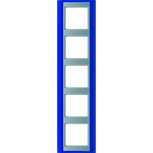 AP 585 BL AL, Rahmen, 5fach, für waagerechte und senkrechte Kombination