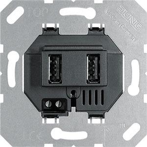 USB 3-2 SW, USB-Ladegerät, Schraubbefestigung