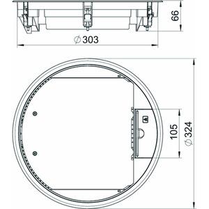 GESR9 10U 9011, Geräteeinsatz für Universalmontage 324x324x68, PA, graphitschwarz, RAL 9011