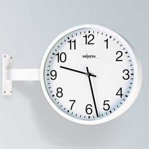 Nebenuhr, AirPort24 Funktelegramm, Ø 420 mm, Zifferblätter weiß, arabische Zahlen doppelseitig, mit Wandhalterung (150 mm),230 V Netzbetrieb