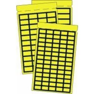 PBL-1138R, Etikett gelb mit schwarzem Rand - Taschenbuch 11 x 39mm - selbstklebendes Gewebe Preis per VPE  VPE =1