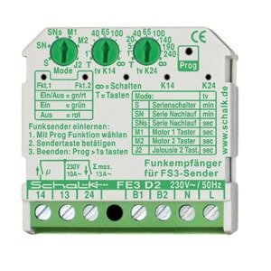 FE3 D2, Funk-Empfängerschalter 2 Schließer, 230V AC (UP)