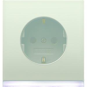 ES 2520-O LEDW, SCHUKO-Steckdose, 16A250V~, Berührungsschutz, weißes LED-Orientierungslicht