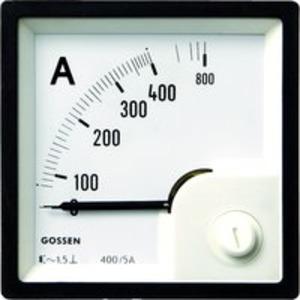 Anzeigeinstrument Typ EQB 96, an Wandler 5/10A, Skala 250/500A
