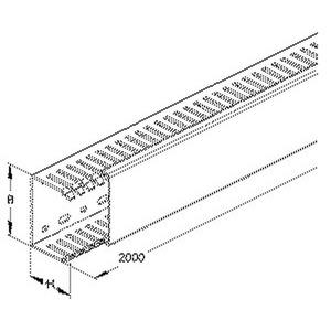 VKD7550, Verdrahtungskanal nach DIN EN 50085-2-3, 75x50x2000 mm, Kunststoff PVC-hart, RAL 7030, steingrau