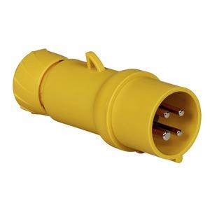 CEE Stecker, Schneidklemmen, 16A, 3p+E, 100-130 V AC, IP44