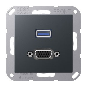 MA A 1183 ANM, USB und VGA, Tragring, Schraubbefestigung, bruchsicher