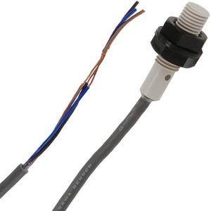 E2F-X2F1 2M, Näherungssensor , induktiv, Schaltabstand Sn=2mm, bündig , Polyacrylat-Gehäuse, zylindr. M12, 38mm lang , 1,5kHz, 10 to 30VDC, 3-Draht, PNP, 1S , 2m P