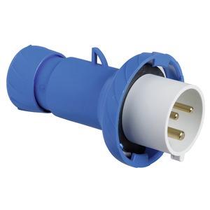 CEE Stecker, Schraubklemmen, 32A, 2p+E, 200-250 V AC, IP67
