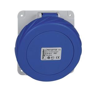 CEE Anbausteckdose, Schraubklemmen, 32A, 3p+N+E, 200-250 V AC