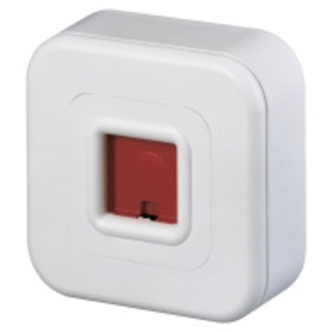 ND/W, Notrufdrücker zur manüllen Alarmauslösung Farbe, weiss, AP