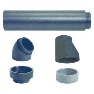 Adapterset Außenluft für recoCOMPACT 246/160mm, Adapterset Außenluft für recoCOMPACT, EPP-Rohr 246/160mm