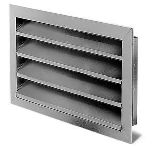 WSG 50/25, WSG 50/25, Wetterschutzgitter rechteckig Aluminium eloxiert