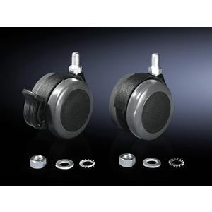 CP 6148.000, Doppel-Lenkrollen, max. statische Last pro Bauteil 75 kg, Bodenfreiheit 85mm