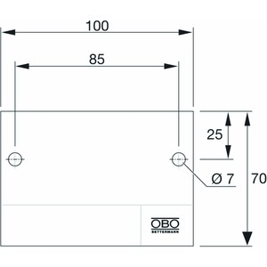 KS-ZSE SE, Kennzeichnungsschild für Zugentlastung 100x70mm, PVC, weiß