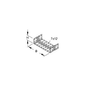 RV 60.400 F, Stoßstellenverbinder, einstückig, U-förmig, 49x396 mm, Stahl, feuerverzinkt DIN EN ISO 1461, inkl. Zubehör