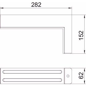BSKM-VE 1025RW, Verbinder mit Dichtung für Eckmontage 100x250, St, L, reinweiß, RAL 9010