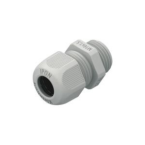 1234VM5002, IPON-Kabelverschraubung, vollmetrisch, M50, Kabel-Ø 27-35 mm, Kunststoff PA, RAL 7001, silbergrau