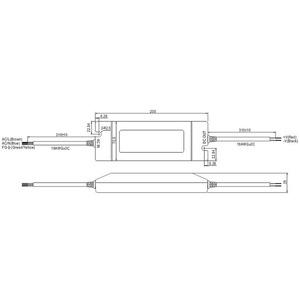 Netzteil pri.230VAC/ sek.24V DC 96W IP64 4,0A 200x71x35