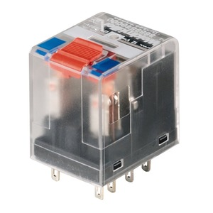 RCM570730, Miniatur-Industrierelais, 230 V AC, 4 Wechsler mit Prüftaste (AgNi 90/10) , 240 V AC, 6 A