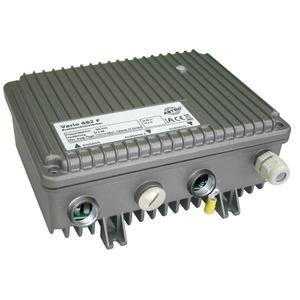 VARIO 662 F PG11, Modularer Breitbandverstärker ferngespeist, mit optionalem 33 oder 65 MHz Rückweg, Verstärkung Vorweg 36,5 dB, Ausgangspegel Vorweg 112 dBµV, Verstärk