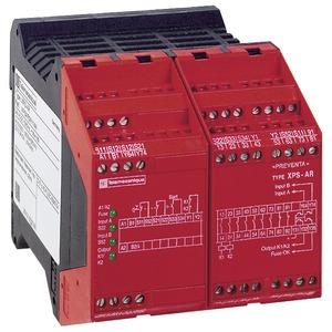 Sicherheitsbaustein Not-Halt+BWS, 7 Relais, 230VAC, fest