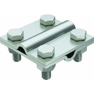 253 8-10 V4A, Kreuzverbinder rund/rund ohne Zwischenplatte 60x60, V4A, 1.4571/1.4404