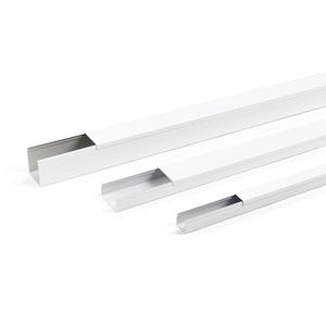 BES mini 40 x 40 Set weiss, Leitungskanal Stahlblech BES mini Set 40 x 40 mm weiss