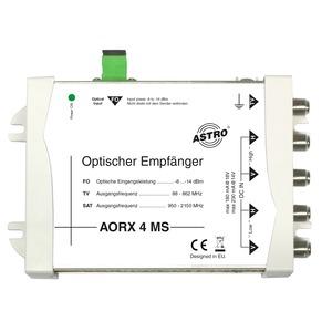 AORX 4 MS, Optischer Empfänger zum direkten Anschluss an Multischaltersysteme, Ausgangsfrequenzen 87 - 862 / 950 - 2150 MHz, optischer SC/APC-Konnektor, max. opt