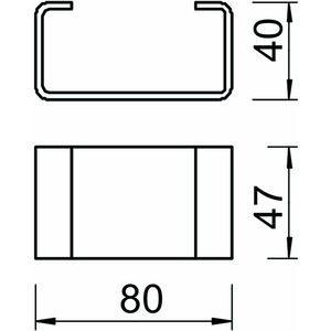 DSK 47 A4, Distanzstück für Kopfplatte KU 5 V 80x47x40, V4A, A4