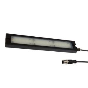 LED Maschinenleuchte, 15x233x44mm, kaltweiß, 12W, 120°, 920lx, 5500K, M12-Kabelstecker 4polig, IP...