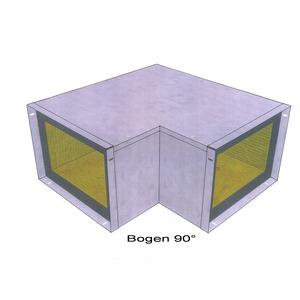 Bogen 90 °  Easy I 90/E 30 - 260 x 100, Bogen 90 ° Easy I 90/E 30 - 260 x 100